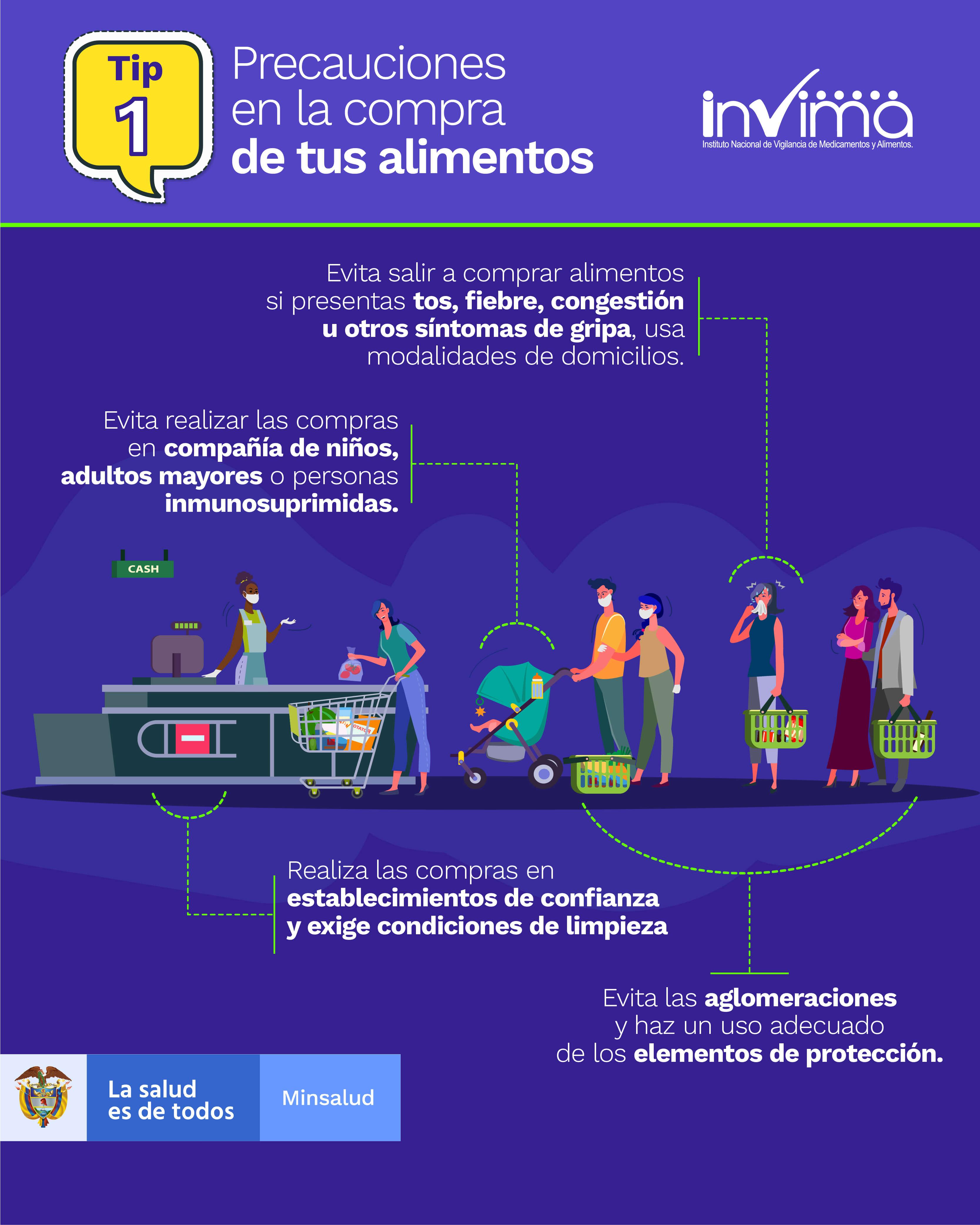 TIP 1 - Precauciones en la compra de alimentos