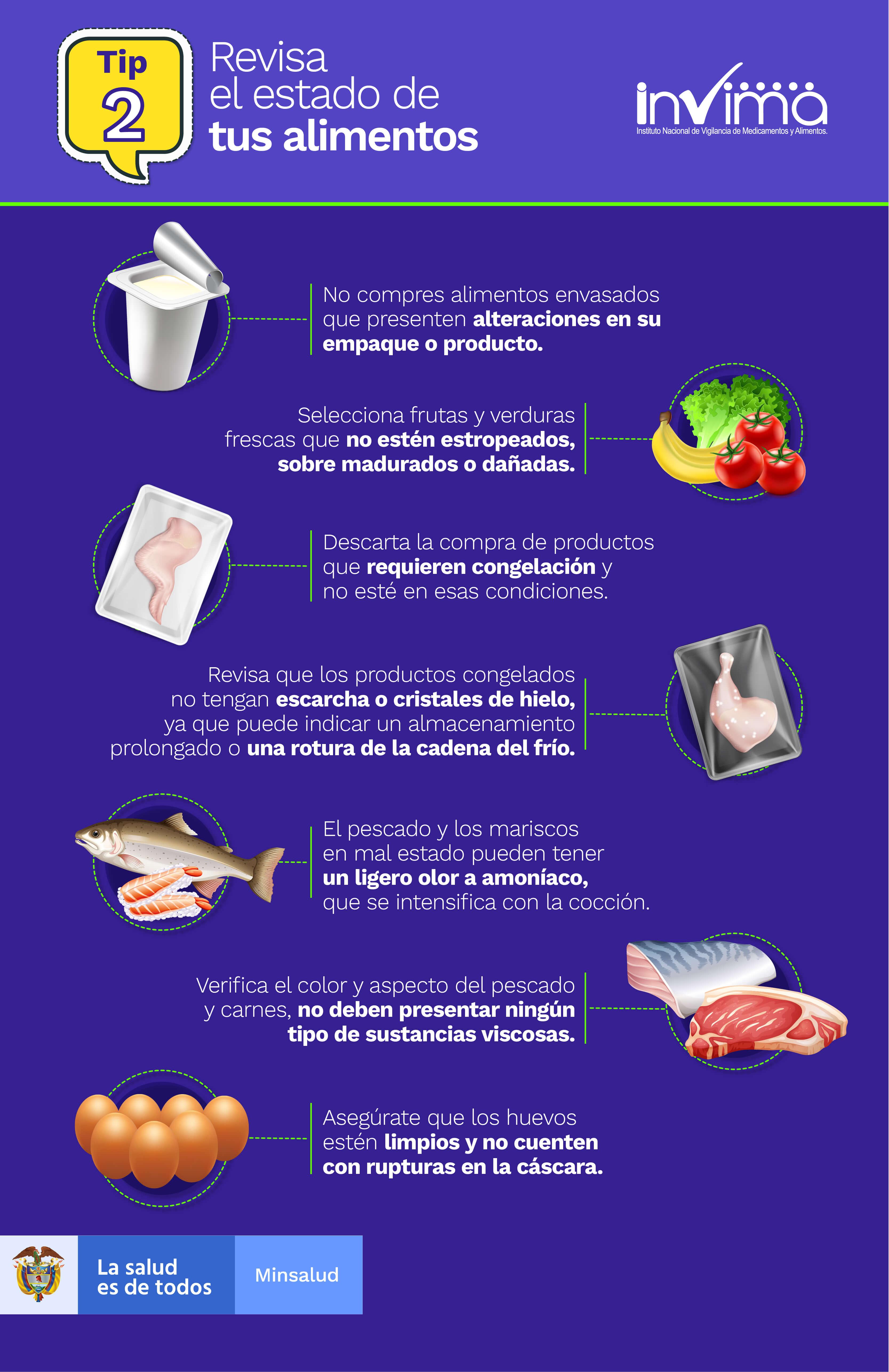 TIP 2 - Revisa el estado de los alimentos