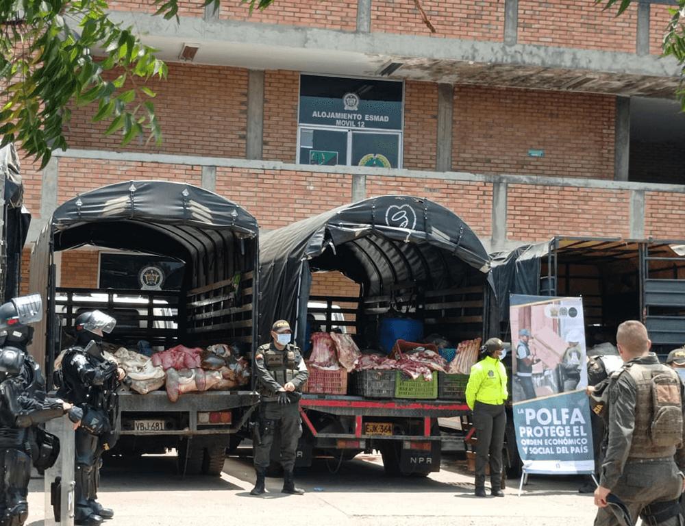 10.699 kilos de productos alimenticios fueron incautados en Norte de Santander