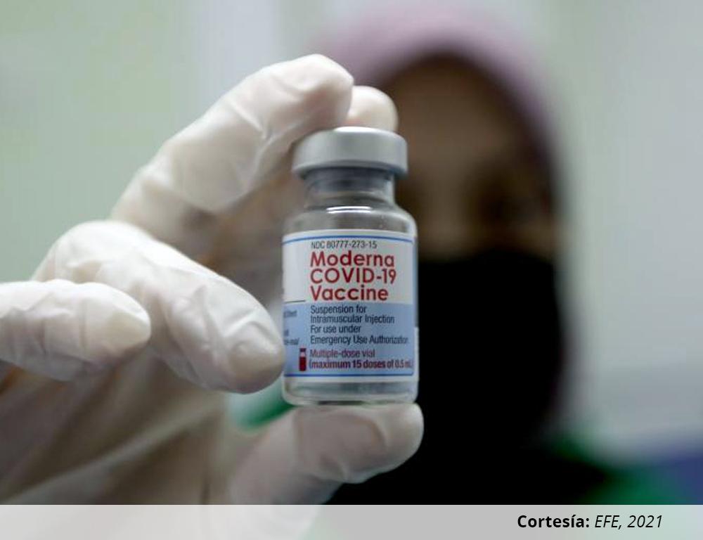 Actualización de información sobre intervalos de aplicación de dosis de la vacuna contra covid-19 desarrollada por Moderna Switzerland GmbH