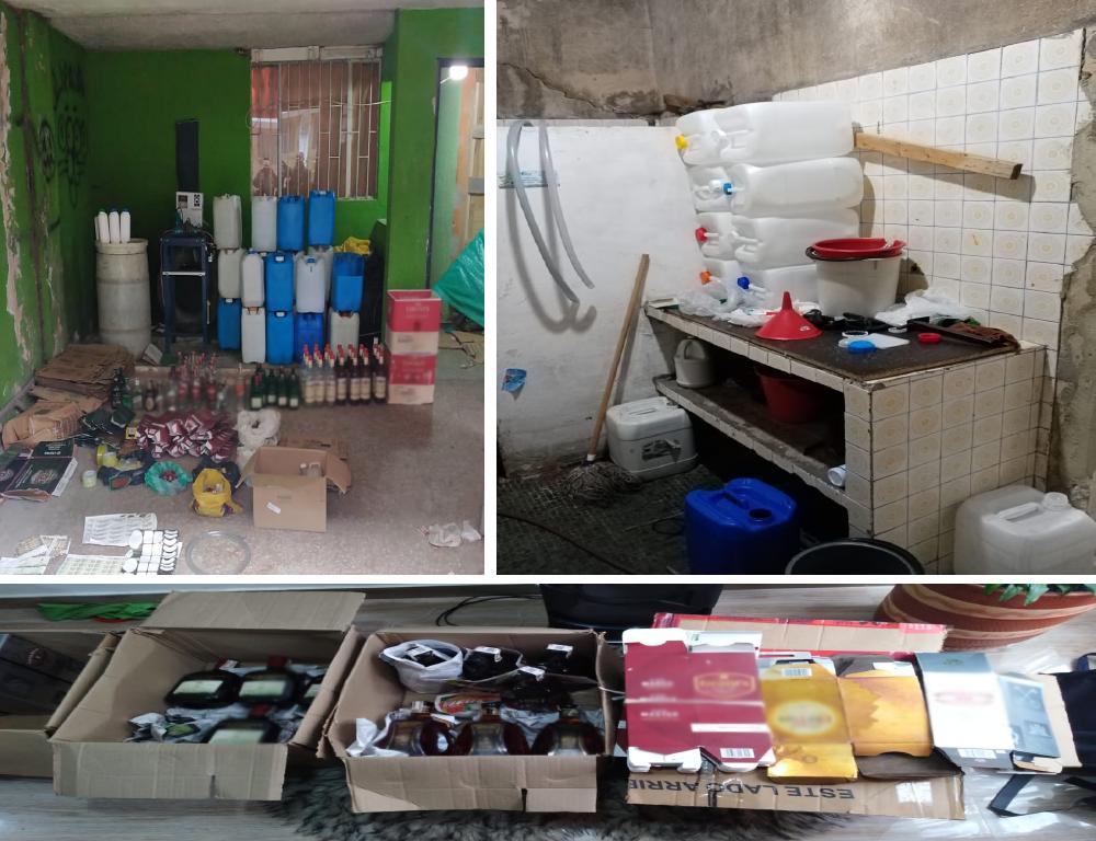 Incautación de 80 toneladas de insumos fraudulentos para la elaboración de licor adulterado